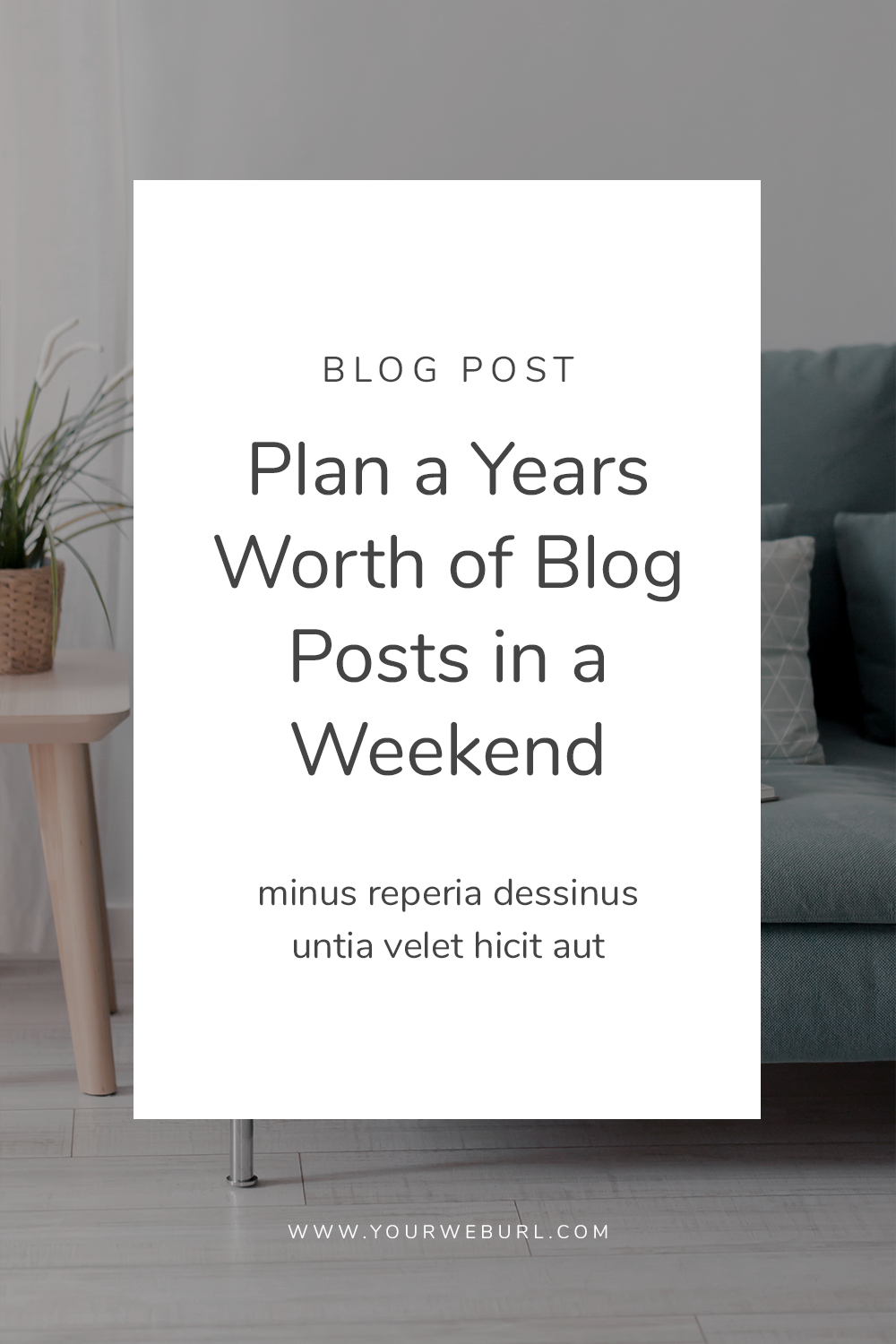 Plan a Years Worth of Posts in a Weekend